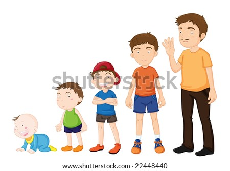 Illustration of various stages of development - stock photo
