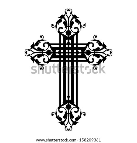 Illustration of vintage cross