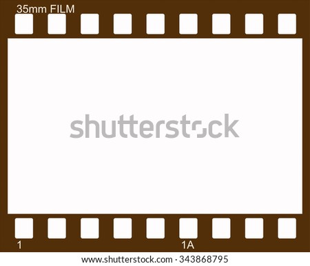 Illustration of vintage photographic 35 mm film sheet