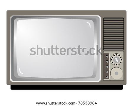 Illustration of vintage television
