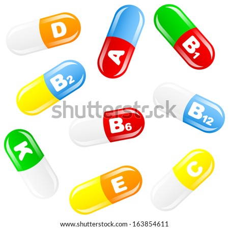 illustration of vitamin pills