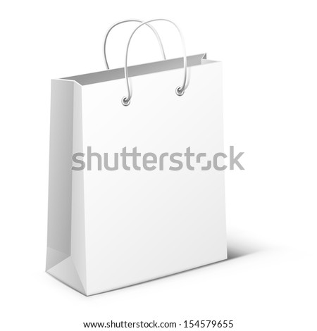 Illustration of white package isolated on white background. Raster copy  - stock photo
