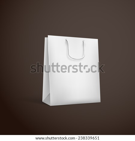illustration of white shopping bag