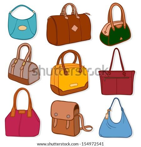 Cartoon Purse Stock Images RoyaltyFree Images Vectors - Cartoon handbags