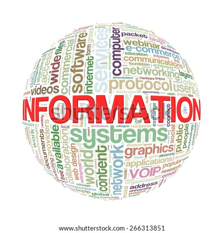 Illustration of word tags wordcloud ball sphere of information - stock photo