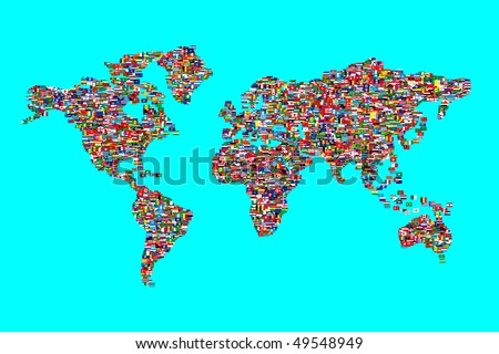 Globe world map shape made gourmet vectores en stock 90382123 illustration of world map made from world flags gumiabroncs Gallery
