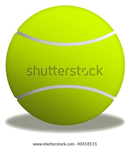 Illustration of yellow tennis ball in white background