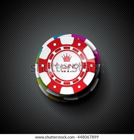 Illustration on a casino theme with playing chips. JPG version. - stock photo