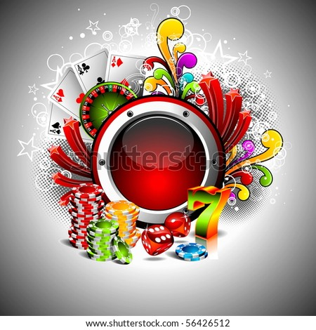 illustration on a casino theme with space for your text (JPG VERSION) - stock photo