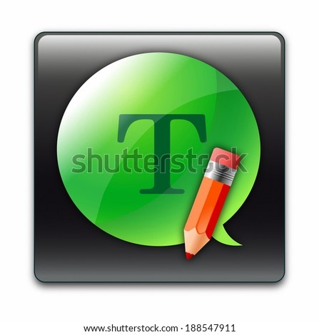 Illustration on text icon - stock photo