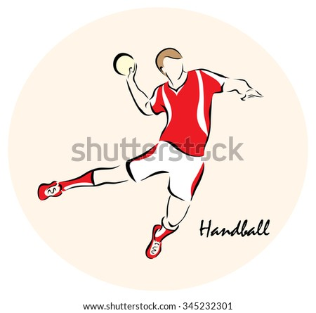 Illustration on the theme of sport. Illustration shows a Summer  Sports. Handball?