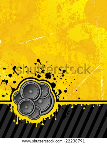 illustration on yellow background ready for your own text - stock photo