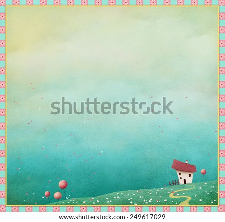 Illustration or background for greeting card or poster - stock photo
