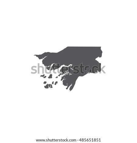 Illustration outline of the country of Guinea Bissau
