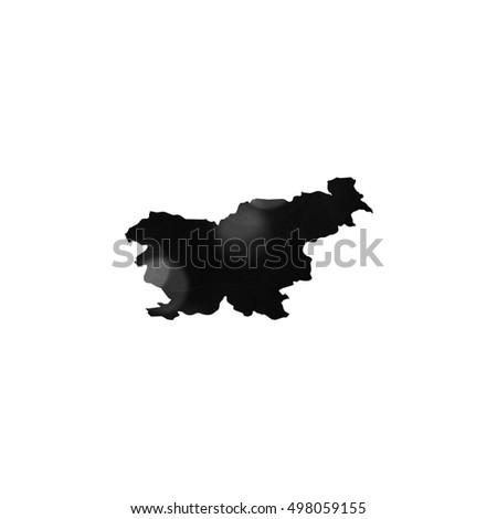 Illustration outline of the country of Slovenia