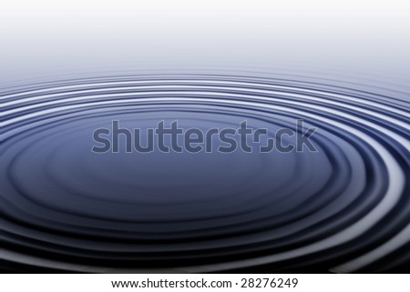 Illustration: Ripples from a splash in a calm pool of water