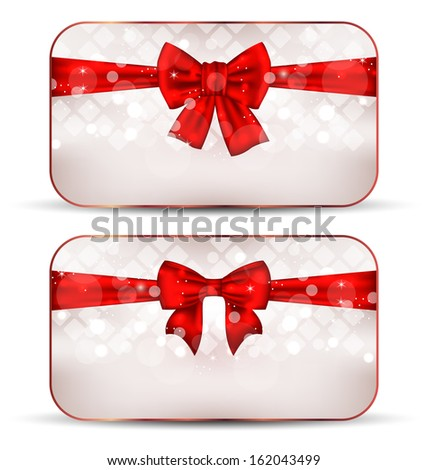 Illustration set gift boxes isolated on white background - raster - stock photo