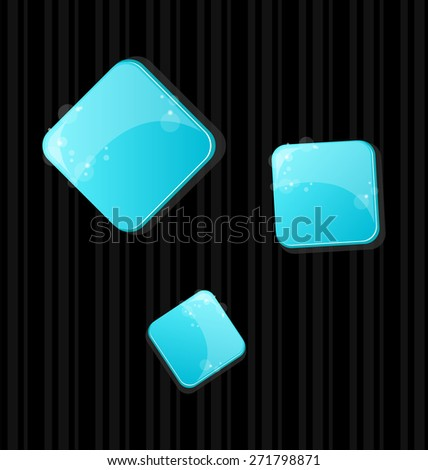 Illustration set of colored web buttons - raster - stock photo