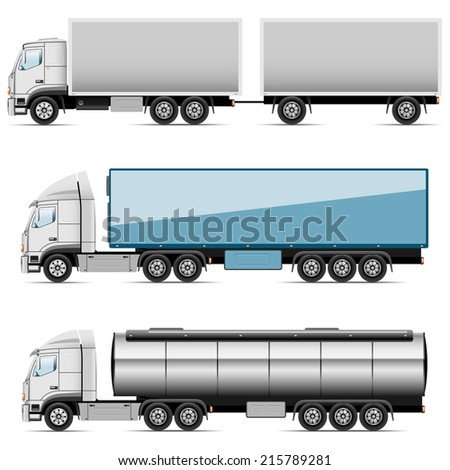 Illustration set of icons trucks.  - stock photo