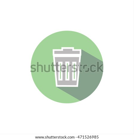 illustration shopping cart icon. garbage. remove