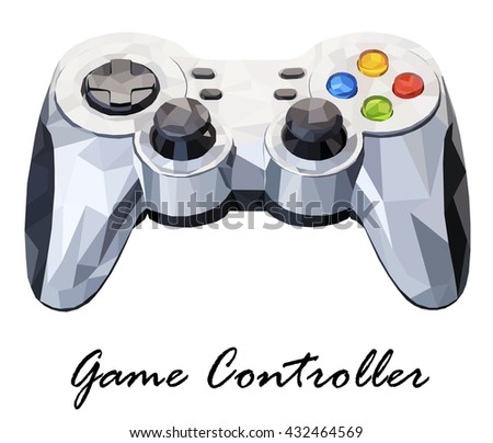 Illustration showing a Game Controller isolated on a white background - stock photo