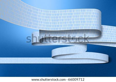 illustration showing a stream of immense digital data - stock photo