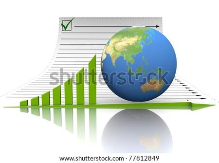 Illustration Diagram Document Globe On Which Stock Illustration