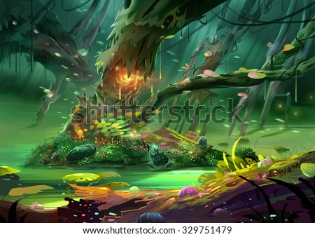 Cartoon Forest Stock Images Royalty Free Images Amp Vectors