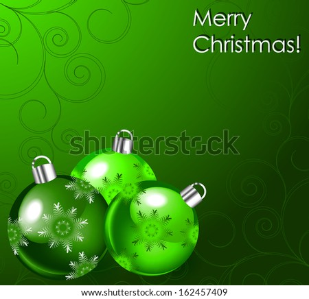 illustration with Christmas balls