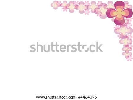 Illustration with color flower ornament