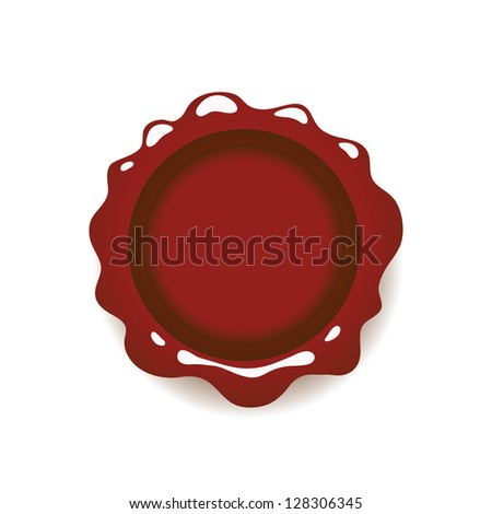Illustration with Red Wax Seal Isolated on White Background for Your Design
