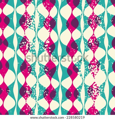 Illustration with texture for print, web seamless pattern hipsters - stock photo