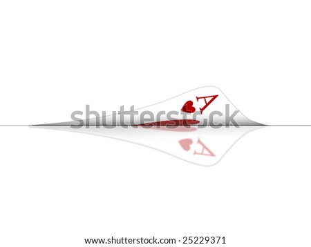 Illustration with the subject of the poker game - stock photo
