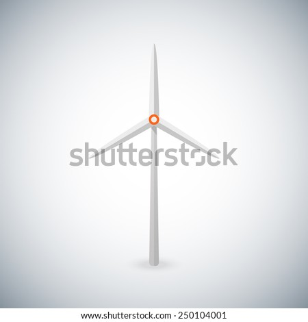 illustration with wind turbine - stock photo