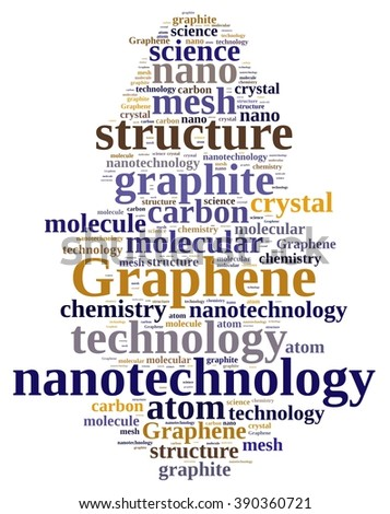 Illustration with word cloud about graphene. - stock photo