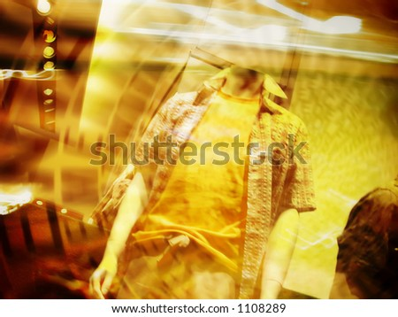 Illustrative - Fashion display abstract background concept. Concept for fashion shopping, sale, etc.