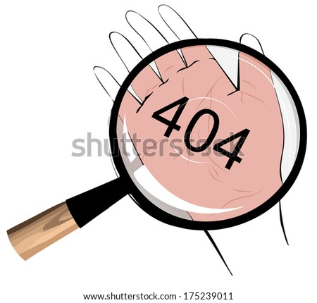 Illustrative representation of it's written in your fortune - stock photo