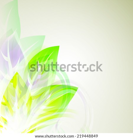 illustrator of Abstract artistic Background with yellow floral element