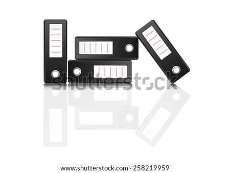 illustrator of ring binders on white background