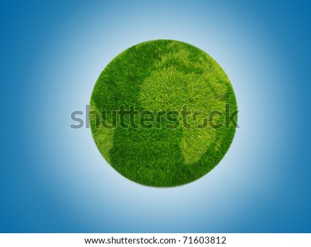 Image cleaner green planet. Ecology