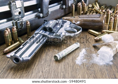 Image concept of drug trafficking. - stock photo