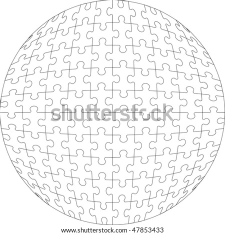 Image.3d puzzle ball 22 - stock photo