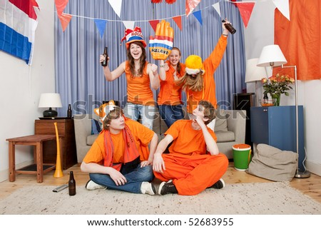 Image depicting the archetype misconception that women don't understand soccer - stock photo