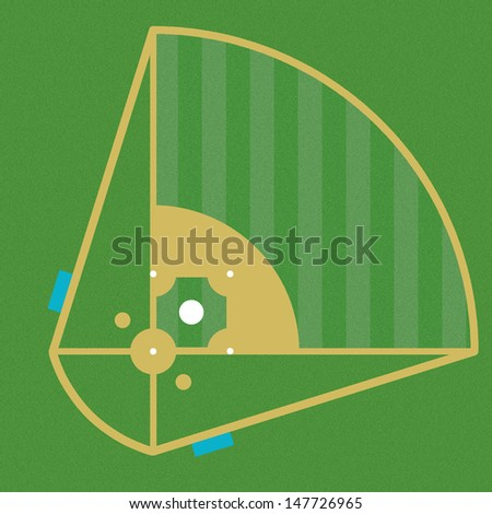 image design of the baseball field