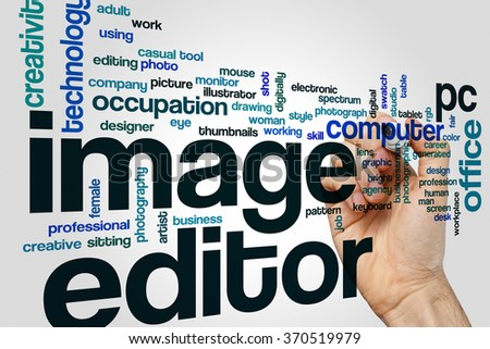 Image editor word cloud - stock photo