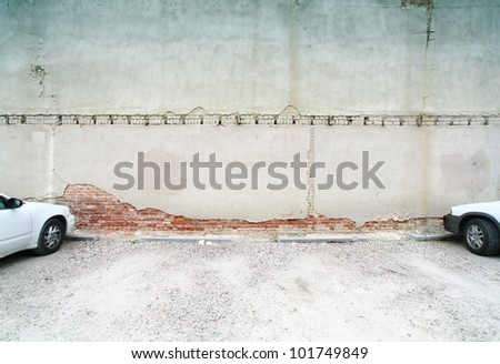 image from exteriors background texture series (alleyway building and walls) - stock photo