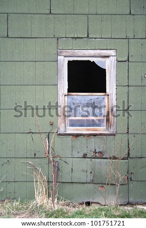 image from outdoor texture background series (old window) - stock photo