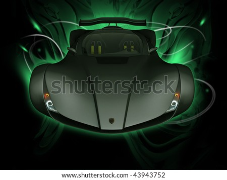 image front view concept art - stock photo