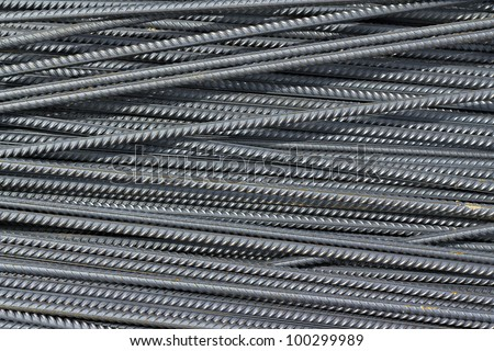 image iron reinforcement rods in the background - stock photo