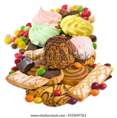 Image many delicious cookies close up  - stock photo